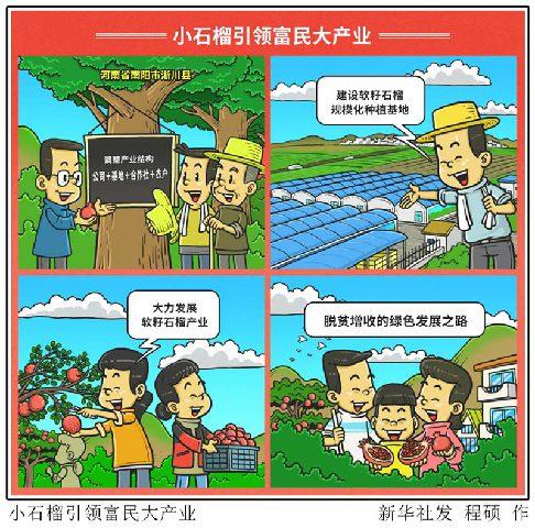 漫画:河南淅川:小石榴引领富民大产业