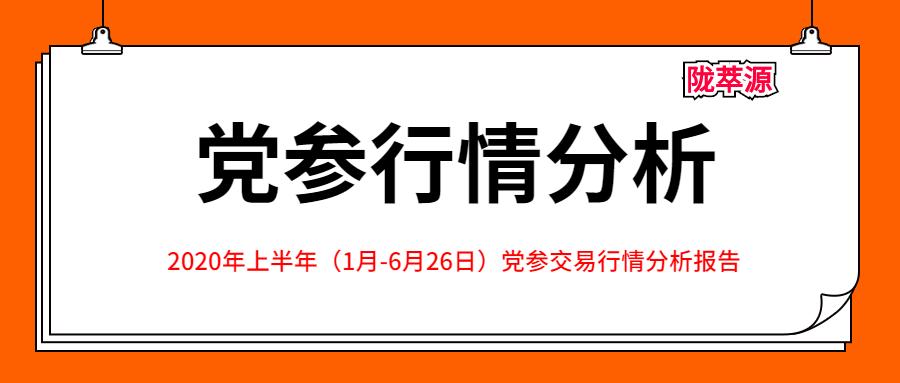 2020年上半年(1月-6月26日)党参交易行情分析报告