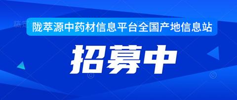 陇萃源中药材信息平台全国中药材产地信息站—招募中